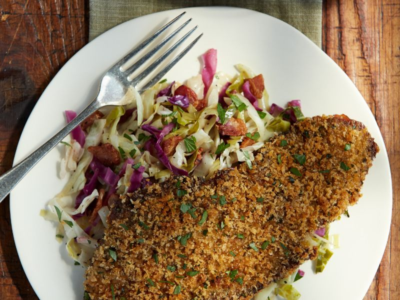 bavarian-beef-schnitzel-with-tangy-slaw