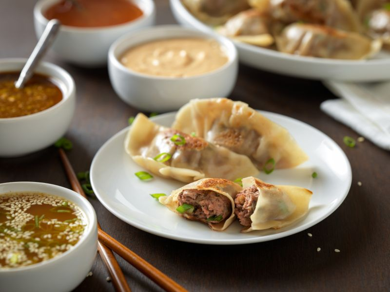 chinese-beef-pot-stickers-with-quartet-of-dipping-sauces-horizontal